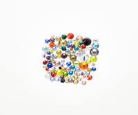 Стразы микс стекло разного размера и цвета 100шт