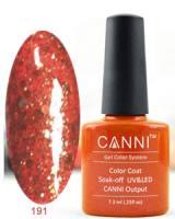 Гель-лак Canni №191 оранжевый с блестками