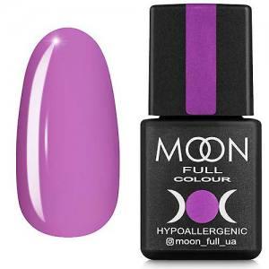 Гель-лак MOON FULL color Gel polish №162 (пастельный сиреневый, эмаль), 8 мл