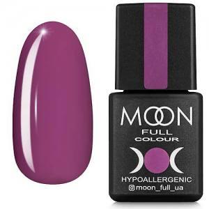 Гель-лак MOON FULL color Gel polish №165 (гелиотроп сиреневый, эмаль), 8 мл