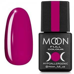 Гель-лак MOON FULL color Gel polish №166 (глубокий розовый, эмаль), 8 мл