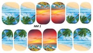 Слайдер для дизайна ногтей водный NM1